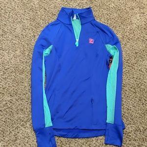 Women fila Sport flare fleece lined 1/4 zip jacket